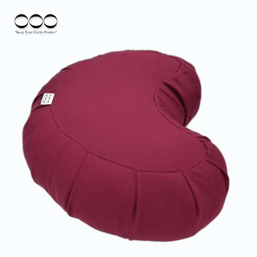 Meditation Cushion Gibbous Buckwheat Burgundy