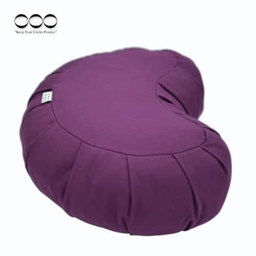 Yoga Meditation Cushion Gibbous Buckwheat Purple