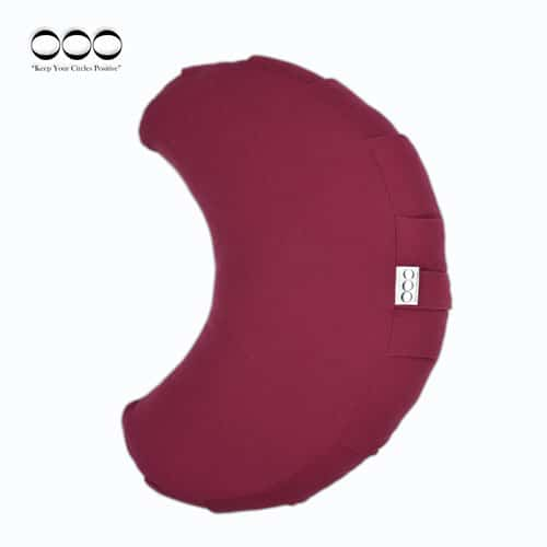 Yoga Meditation Cushion Crescent Buckwheat Burgundy