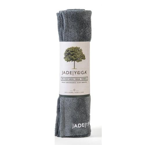 Jade Microfiber Yoga Mat Towel Gray