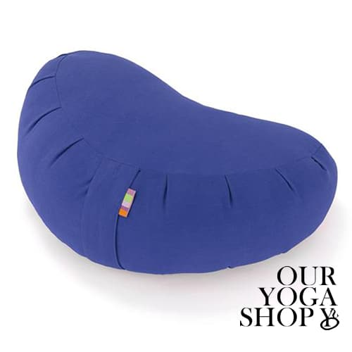 Zafu Crescent Meditation Cushion Blue