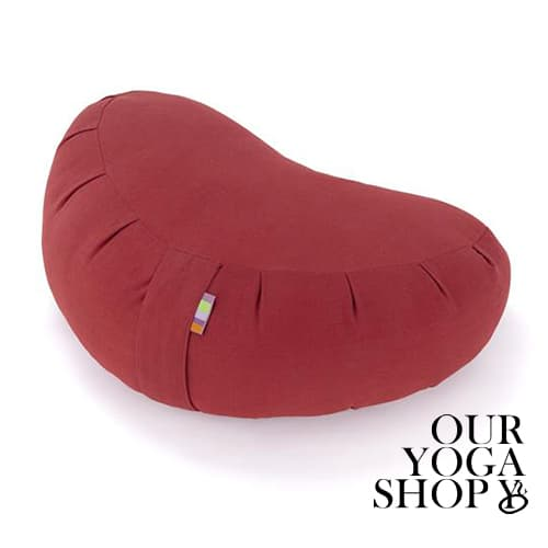 Zafu Crescent Meditation Cushion Burgundy